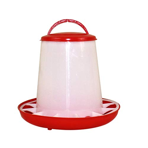 YARDWE Chick Automatic Feeder Waterer Chick Supplies Automatic Drinker Feeder Container Fowl Feeding Dish Bird Food Dispenser for Poultry