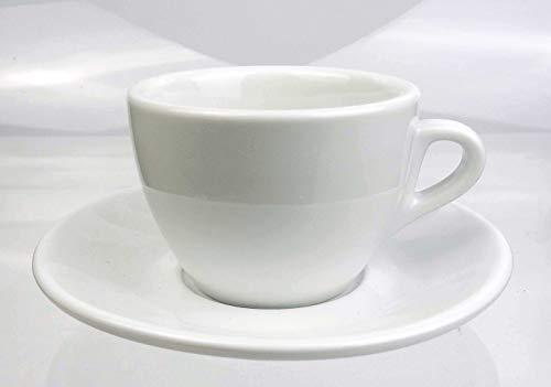 Nuova Point Kleine dickwandige Cappuccinotasse »Palermo Füllmenge (bis zur Oberkante): 145 ml | weiß | 6 Tassen & 6 Untertassen