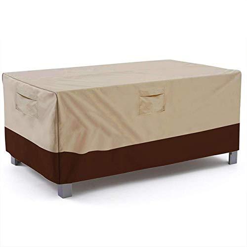 XiaoOu La Mesa del Patio Cubierta Impermeable Cubierta de Mesa Rectangular para Patio Veranda, Cubiertas para Muebles de jardín Resistentes al Aire Libre Resistentes al Agua, marrón Beige