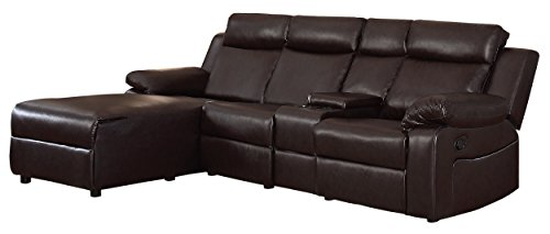 Homelegance Dalal 102' Reclining Sectional with Console,...