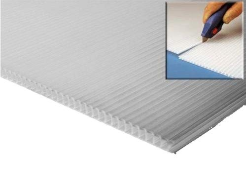 10 x Clear Correx Corrugated Plastic Floor Protector Protection Sheets Board 1.2m x 2.5m