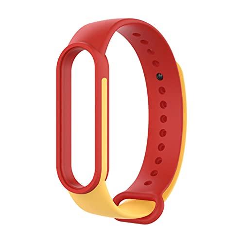 Correa para Xiaomi Mi Band 5 Reemplazo de pulsera de silicona de doble color mixto Nuevo diseño para MiBand 5 WristStrap TPU