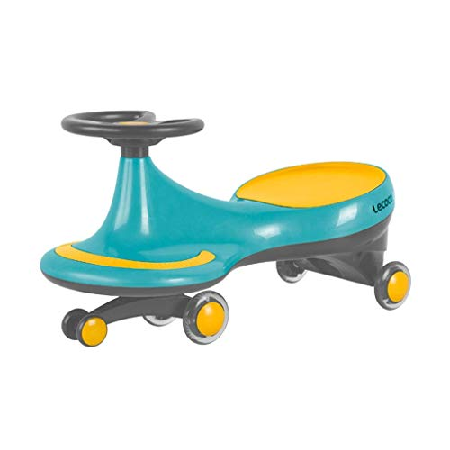 CAIMEI Juguete para niños con giro, para coche con columpio, juguete de 1 a 3 a 6 deslizantes, para fitness, giroscopio, para evitar vuelcos (color: amarillo), azul