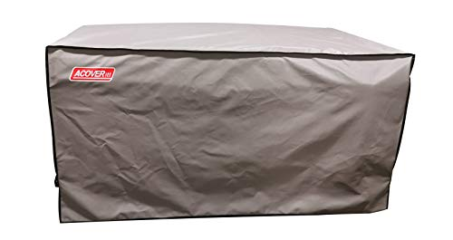 XXL Storage Box Cover with Straps and Handles, 100% Waterproof Heavy Duty Outdoor Furniture Winter Cover for Keter, Suncast Container (Deck Box Cover, 63'(L) 30'(D) 28.3'(H))