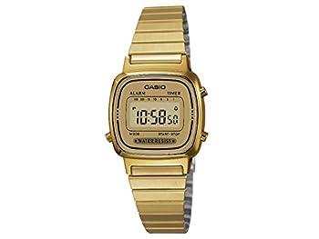 CASIO Women s Classic Vintage Quartz Watch with Stainless Steel Strap Gold 10  Model  LA670WGA-9