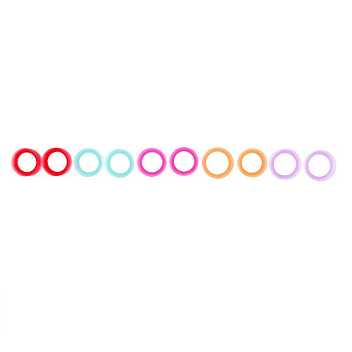 Pendant 5 Pares de Piercings de Silicona para Oreja, dilatadores, dilatadores, 8 – 20 mm, Nombre del Color: 8 mm