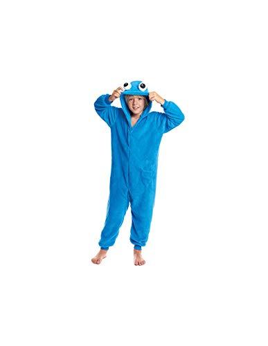 DISBACANAL Disfraz Monstruo Azul Kigurumi Infantil - -, 10-12 aos