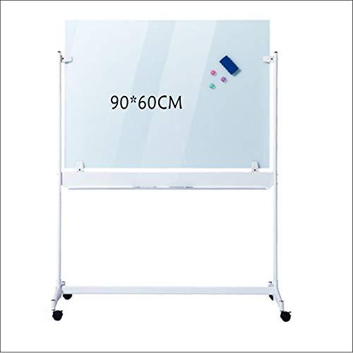 ODDINER Tableau Blanc Bureau du Conseil du Blanc Mobile magnétique Portable + 10 Sec Conseil effaçables Stylos, 1 Tableau Noir Gommes, 3 Boucles magnétiques Monté Tableau Blanc
