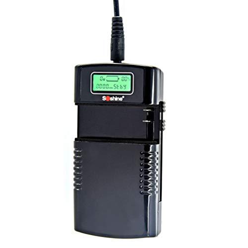 Uonlytech Cargador de batería del Li-Ion 3.7V 7.4V Carga rápida Cargador Universal Pantalla LCD para la cámara Digital Cámara de vídeo Carga de la batería (Enchufe de la UE)