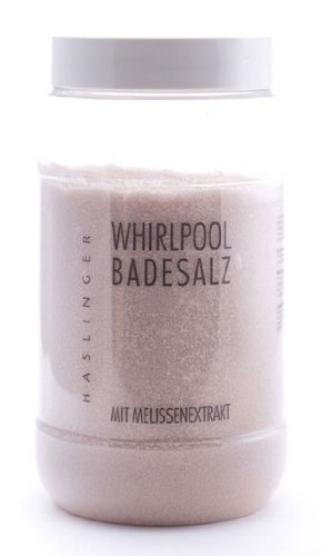 Lashuma Whirlpool Badesalz Melisse mit Melissenextrakt, Sprudelbad Zusatz 1000 g