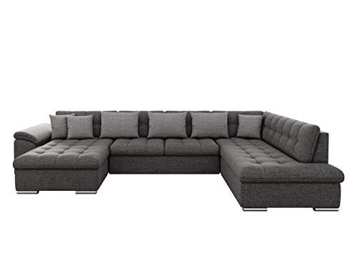 Mirjan24 Eckcouch Ecksofa Niko Bis! Design Sofa Couch! mit Schlaffunktion und Bettkasten! U-Sofa Große Farbauswahl! Wohnlandschaft vom Hersteller (Ecksofa Links, Lux 06 + Lux 06 + Lux 05)