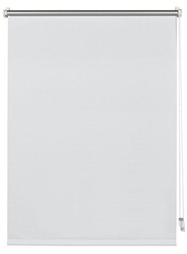 Deco Company Thermo-Rollo mit Thermo-Rückseite zum Klemmen, Höchste Lichtreflektion, Energiesparend, Lichtundurchlässig, Alle Montage-Teile inklusive, Weiß, 70 x 150 cm (BxH)