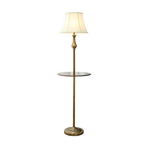 AJZXHE Séjour Simple Moderne Lampe de Chevet Chambre Plateau de Stockage étude Lampe de Sol Verticale (Couleur: Beige) (Design : Foot Switch)
