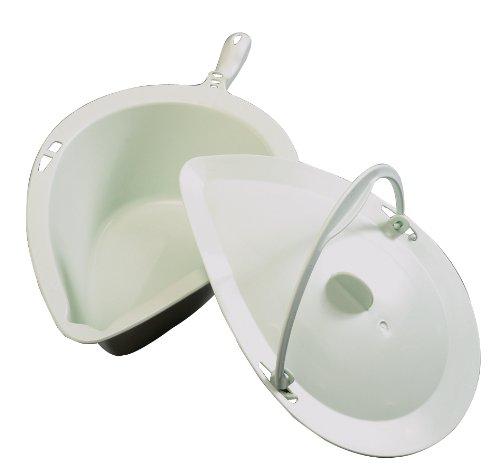 Patterson Medical Chair Clean - Orinal y tapa para silla de ducha con agujero para inodoro, color verde ✅