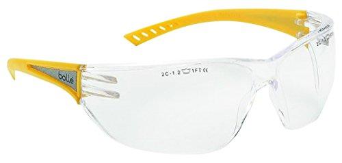 Gafas de seguridad Bollé Slahivi, transparentes, de alta visibilidad, color amarillo