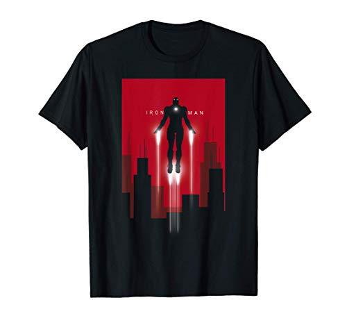 Marvel Iron Man in Flight Deco Art Style Maglietta