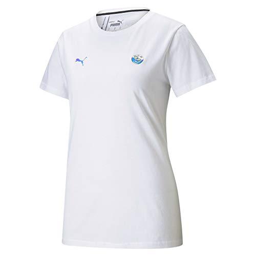 PUMA BMW M Motorsport Logo Damen T-Shirt Puma White L