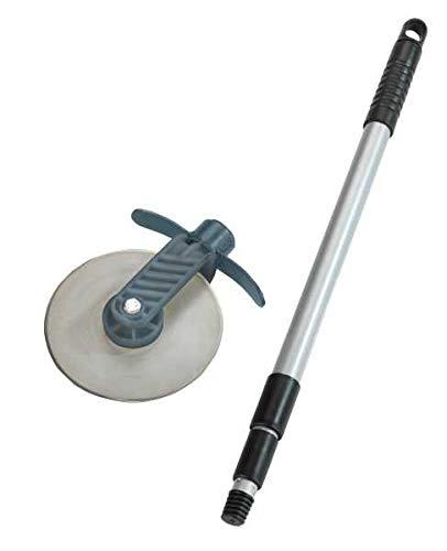 WENKO Rasenkanten-Roller Cut - Rasenkantenschneider mit Schnittschutz, Edelstahl rostfrei, 5.5 x 72-139 x 15 cm