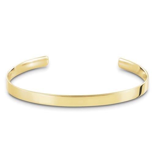 THOMAS SABO Damen-Armreif Gelbgold Love Cuff Silber vergoldet 8.8 cm - AR087-413-12-L