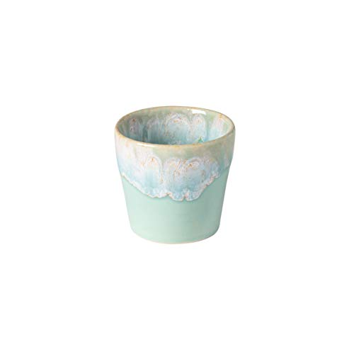 COSTA NOVA Stoneware Ceramic Dish Grespresso Collection Espresso Cups 6-Piece Set, 3 oz (Aqua)