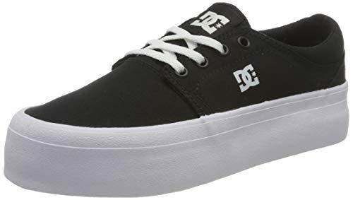 DC Shoes Trase Platform, Piattaforma Donna, Black/White, 36.5 EU