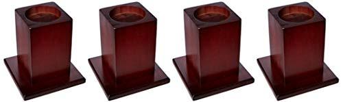 Homecraft Holzbett Raisers, Ausgelegt für Betten Bereitstellung großer Stabilität, Möbel Raisers, um 13 cm anheben Betthöhe, Starke Holzsockel, 4er-Pack