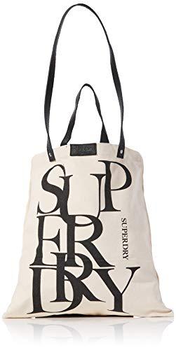 Superdry Damen Edit Printed Shopper Stoff-und Strandtasche Beige (Natural)