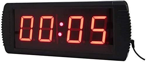 LED Reloj Digital De Cuenta Atrás De 3 Pulgadas De Formación Reloj De Pared Temporizador De Control Remoto Con Función De Control Remoto, Conveniente For El Hogar Y La Oficina (color: Negro, Tamaño: 3