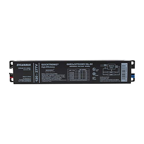 Sylvania QHE2X32T8/UNVISL-SC Fluorescent, 32W, 2-LAMP, Electronic Ballast, 120-277V, T8