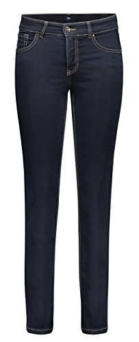 MAC Damen Straight Leg Jeanshose Melanie, Blau (Blau Verwaschen/ Dark Rinsewash D801), 44 / 32L