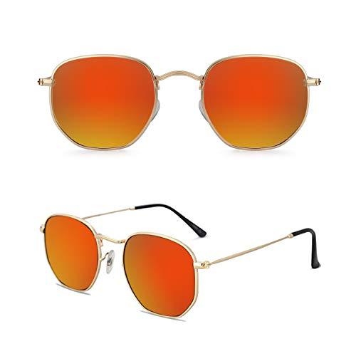 Vintage Sunglasses for Women and Men Square Metal Frame UV 400 Coating Retro Sun Glasses