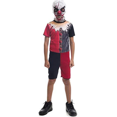 Fantasia De Halloween Infantil Masculina Palhaço IT A Coisa Com Máscara M 5-8