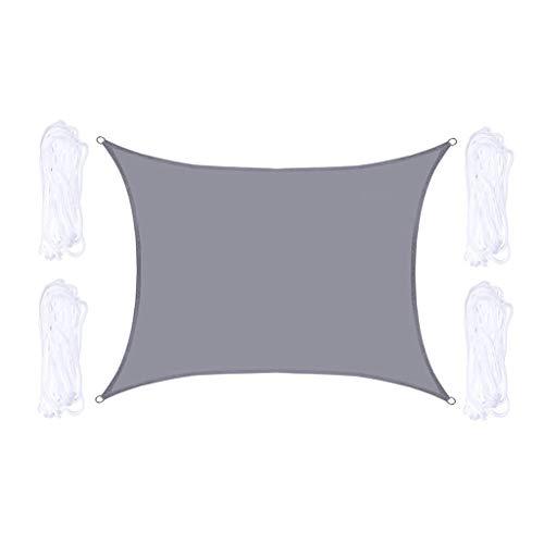 Schaduwdoek, Rechthoekige Regendichte ZonnebrandcrèMe UV-Blokbescherming Luifel Met Touw, Duurzame Oxford-Doek, Voor Tuinterras Pergola, Zwart,3x4m
