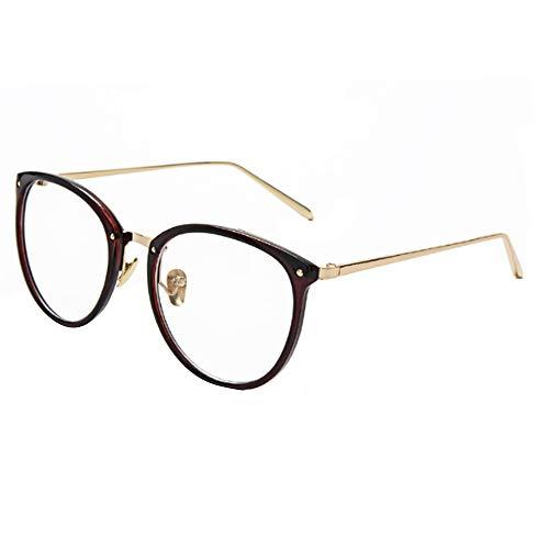 Millya Unisex Anti radiation Plain Glasses Spectacles Full Frame Clear Lens Eye Glasses without Degree 4034 Dark Brown
