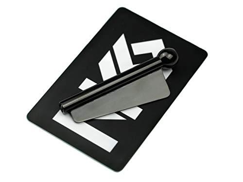 NKS Tube & Blade Sniffer, 1 Ziehröhrchen mit Klinge aus Edelstahl, NKS-Karte (Schwarz)