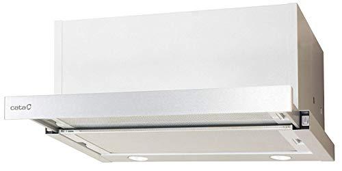 Flachschirmhaube Cata 60cm mit Edelstahlblende/Dunstabzugshaube mit Sehr Starken Motor 820m³/h/ECO LED Beleuchtung/Duralum TouchFree Oberfläche/Einbauhaube/Ablufthaube/Umlufthaube
