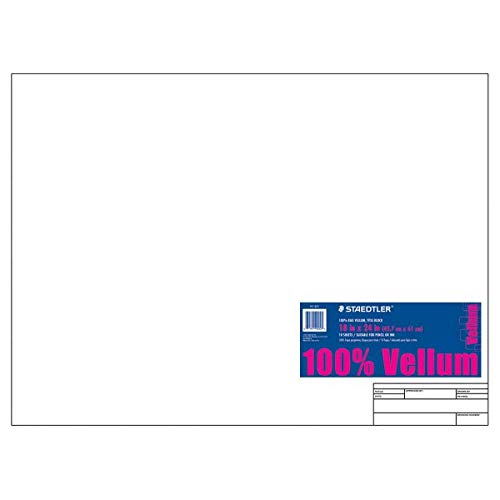Staedtler(R) Vellum Paper with Title Block & Border, 18in. x 24in, White, Pad of 10 Sheets