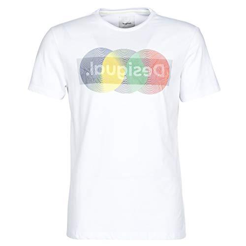 Desigual Camiseta KARAMAT Blanca para Hombre.