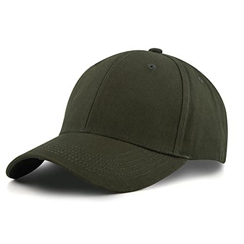 KELOYI Berretto Uomo Estivo Cappello Donna Army Green Cappelli Visiera Regolabile Cotone Golf Cappellino