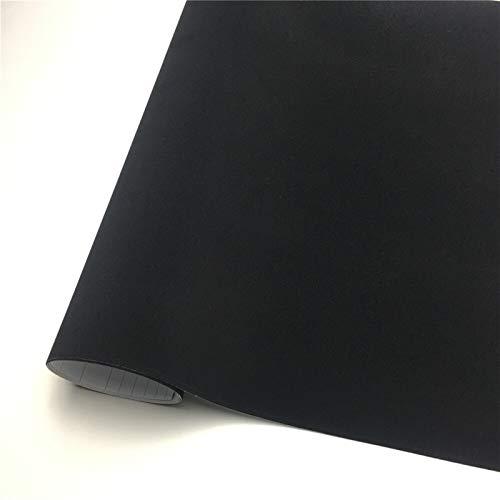 EWDF Stede Vinyl Wrap Vinchret Vinyl Wrap Film Wrapping Whapping Sticker Bubble Free para Wraps Car Vehicle Decal Console Pinza de Vinilo Película DIY (Color Name : Black, Size : 135X50 CM)