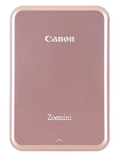 Canon Zoemini drukarka fotograficzna do smartfona (różowa) – natychmiastowe 2 x 7,6 cm z systemem iOS lub Android, bez tuszu z technologią cynku