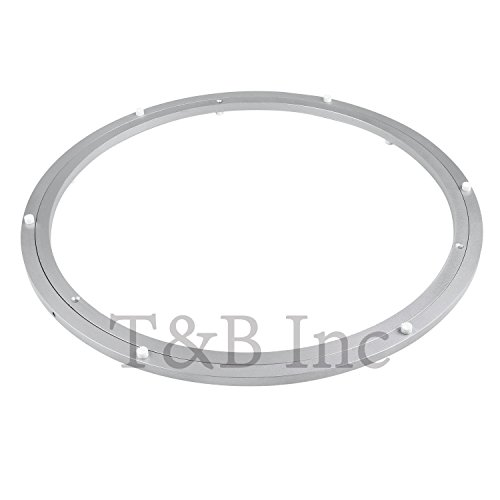 TamBee 500mm Lazy Susan 20 Inch Aluminum Bearing Metal Rotating Turntable Bearings Swivel Plate Hardware for Dining-Table