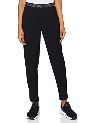 Under Armour Damen Play Up Pants Solid Hose, Black/Metallic Silver, M