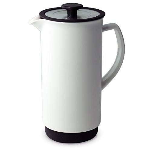 FORLIFE Cafe Style Coffee/Tea Press, 32-Ounce, White