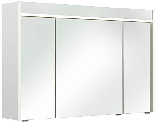 Pelipal 359 Piolo Spiegelschrank Treviso III, Holzdekor, Weiß Hochglanz, 20,0 x 105,0 x 70,0 cm
