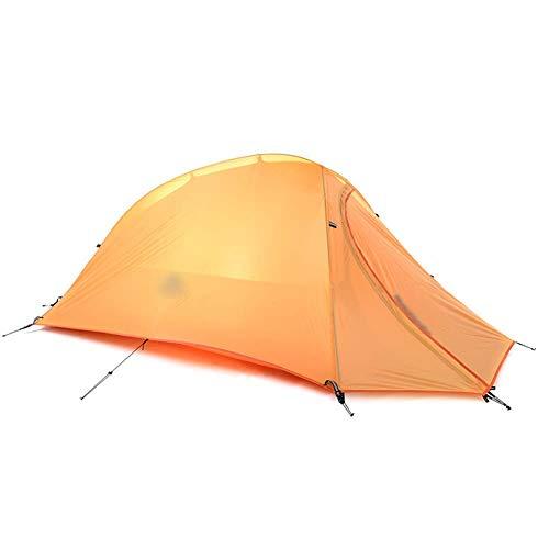 LJJLJJ Tente Cadre, Piquets De Tente Portatifs Tipi, Crème Solaire Étanche Et Automatiques, 1 Personnes,Orange