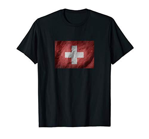T-Shirt Schweiz - Schweizer Flagge für Damen & Herren T-Shirt