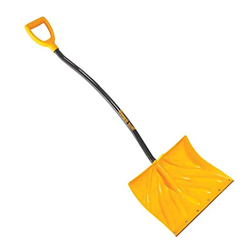 Buy Bargain Poly Snow Shovel/Pusher with Ergonomic D-Grip Steel Handle 18 Inch (New Version)