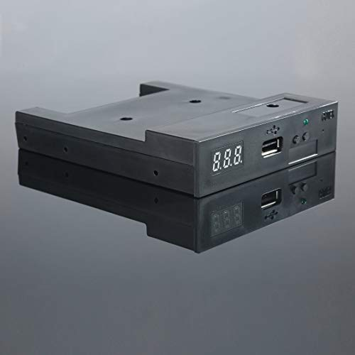 Black SFR1M44-U100K 5V 3.5 1.44MB 1000 Floppy Disk Drive to USB Emulator Simulation Simple Plug for Musical Keyboad