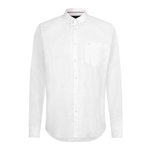 Merc of London Oval, L/S Oxford Button-Down Shirt Chemise Business, Blanc (White), 39 (Taille Fabricant: S) Homme